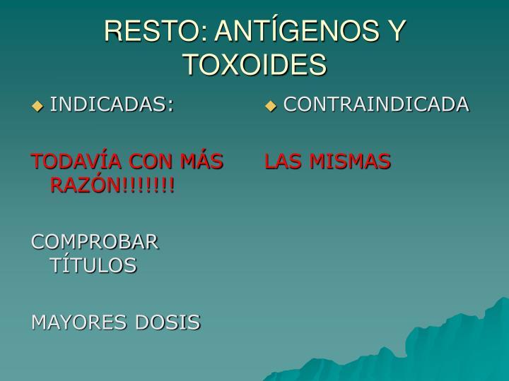 INDICADAS: