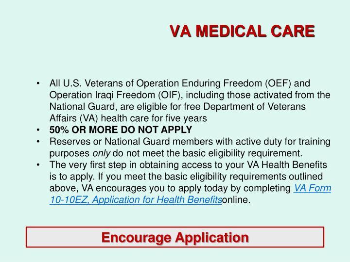 VA MEDICAL CARE