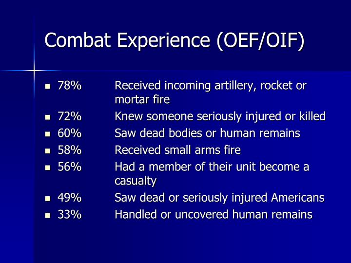 Combat Experience (OEF/OIF)