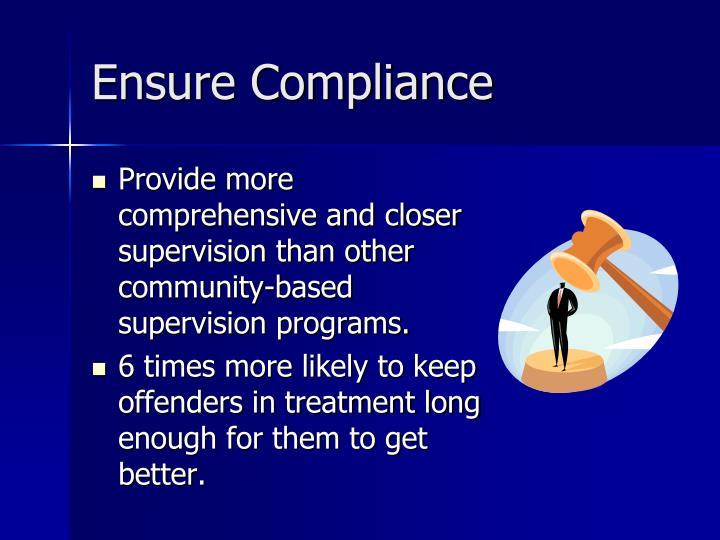 Ensure Compliance