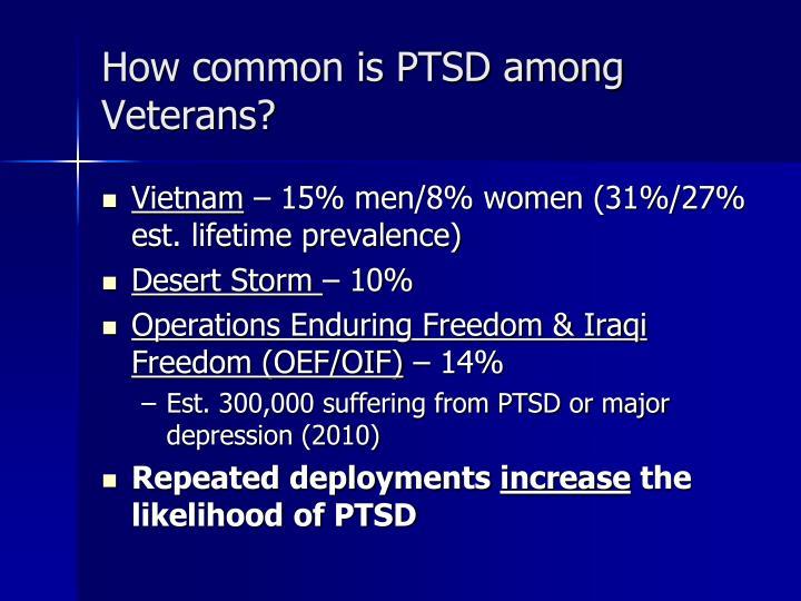 How common is PTSD among Veterans?