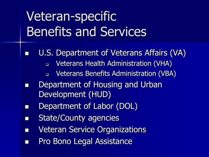 Veteran-specific