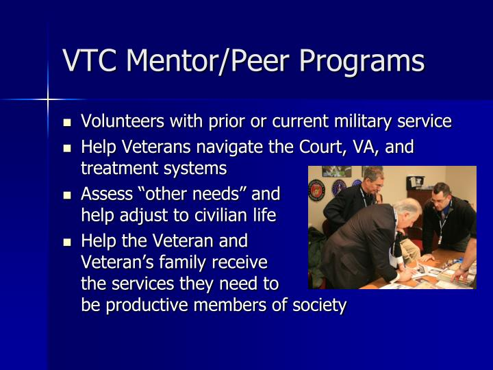 VTC Mentor/Peer Programs