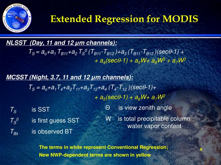 Extended Regression for MODIS