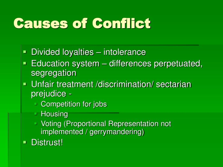 Causes of Conflict