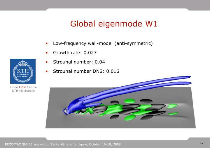 Global eigenmode W1