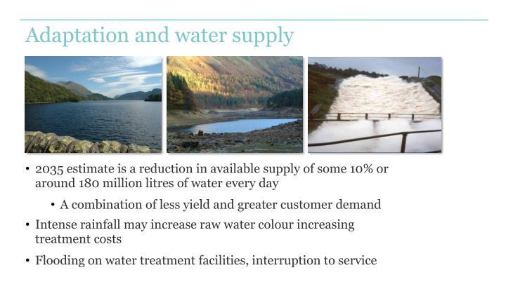 Adaptation and water supply
