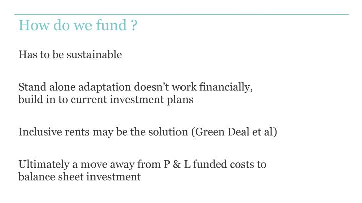 How do we fund ?