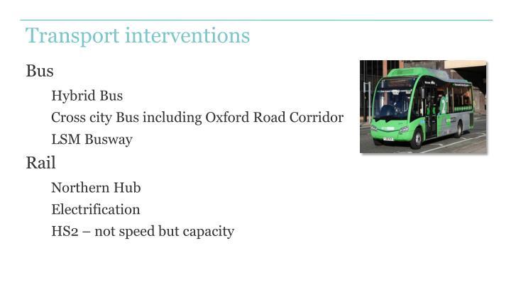 Transport interventions
