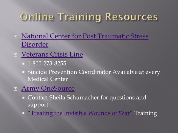Online Training Resources