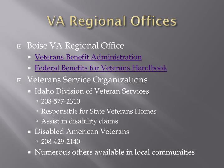 VA Regional Offices