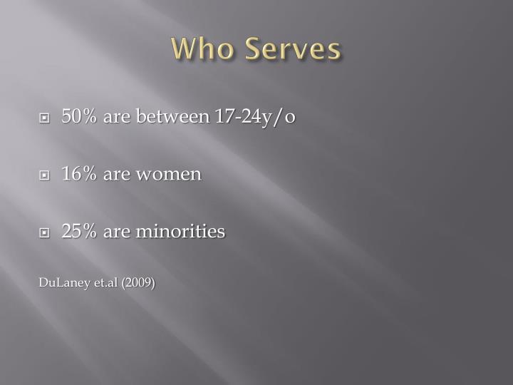 Who Serves