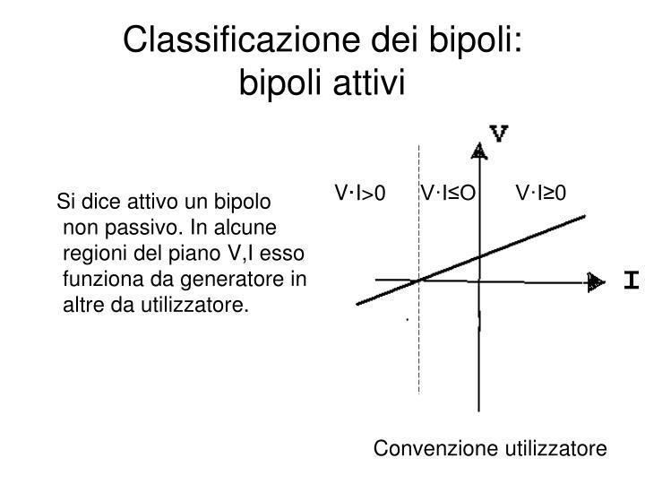 Classificazione dei bipoli:          bipoli attivi