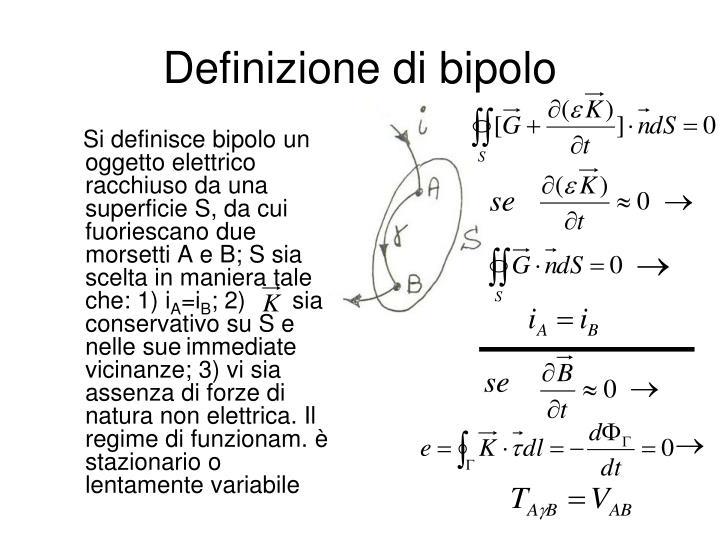 Definizione di bipolo