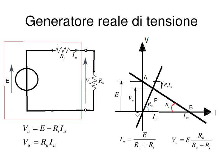 Generatore reale di tensione