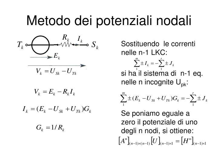 Metodo dei potenziali nodali