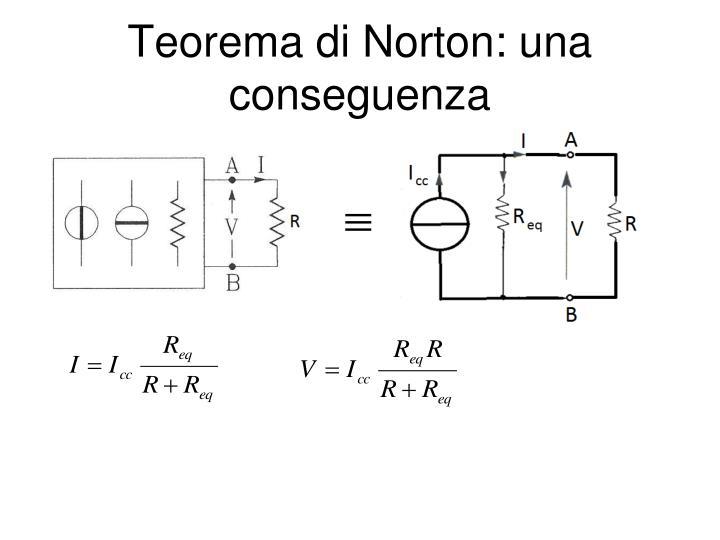 Teorema di Norton: una conseguenza