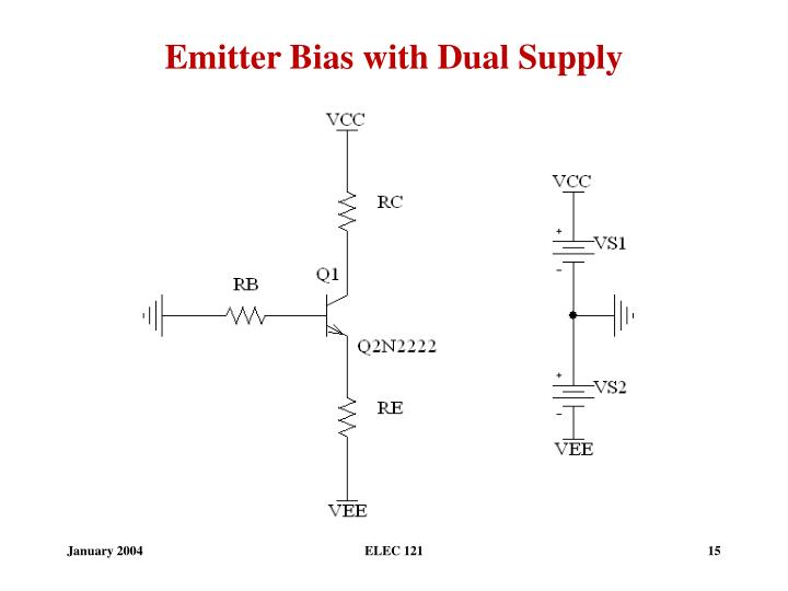 Emitter Bias with Dual Supply