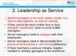 2 leadership as service