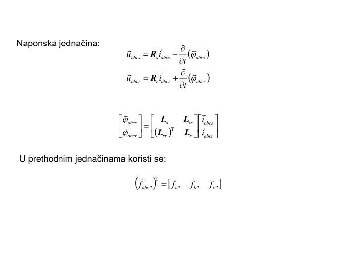 Naponska jednačina: