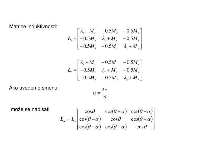 Matrice induktivnosti: