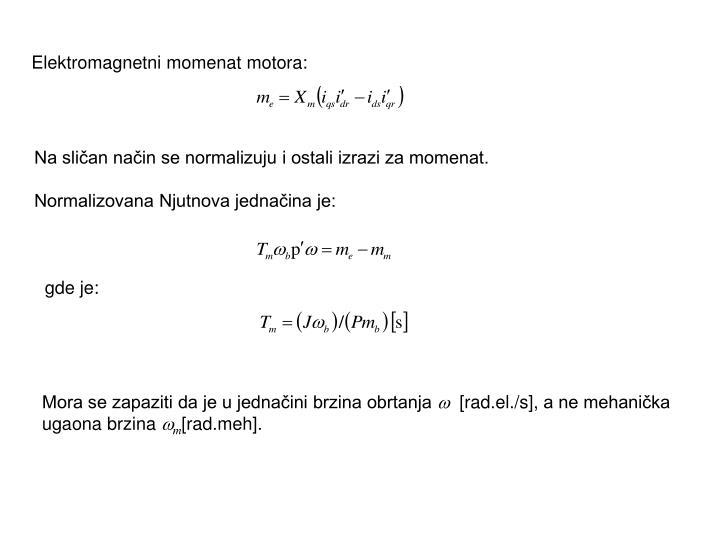 Elektromagnetni momenat motora: