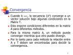 convergenc ia