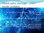 global water shortage cross border problem