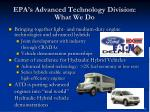 epa s advanced technology division what we do