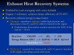 exhaust heat recovery systems