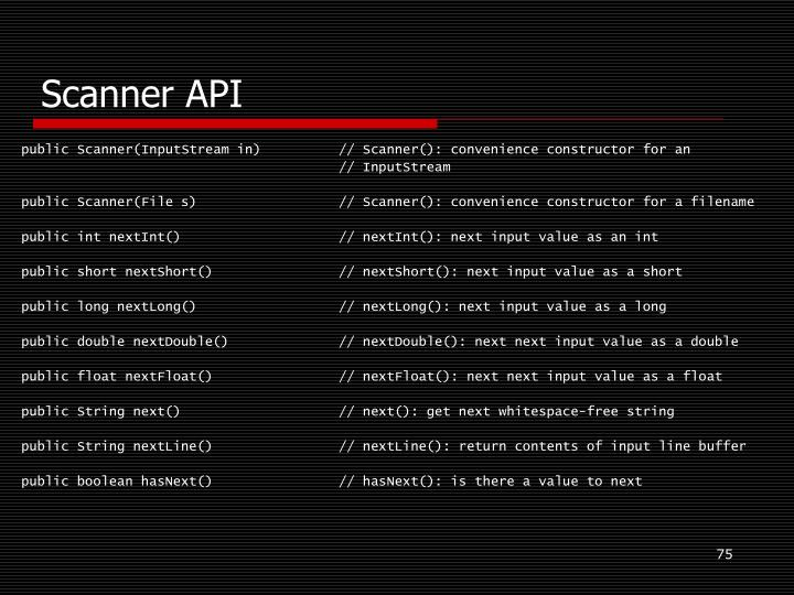 Scanner API