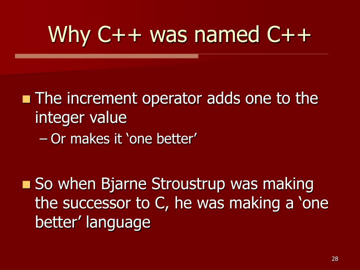 Why C++ was named C++