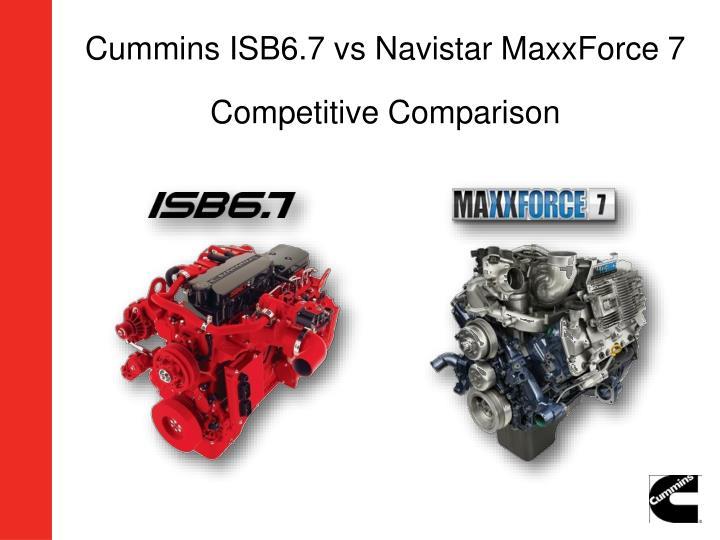 Cummins ISB6.7 vs Navistar MaxxForce 7