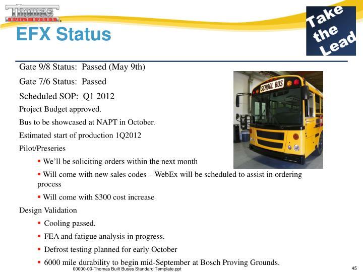 EFX Status