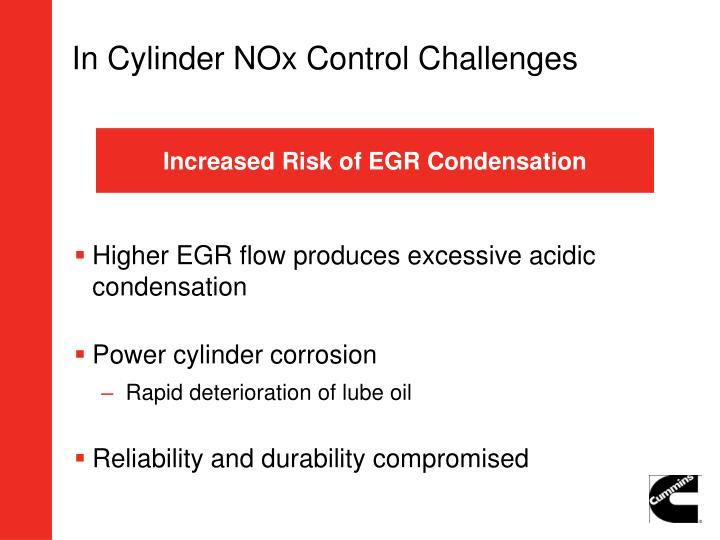 In Cylinder NOx Control Challenges