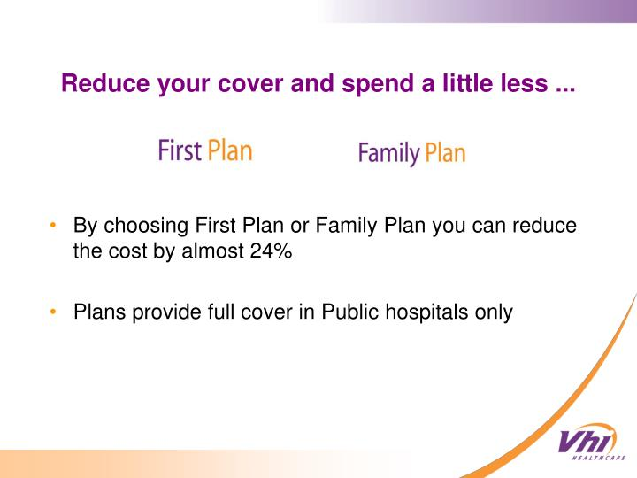 By choosing First Plan or Family Plan you can reduce the cost by almost 24%