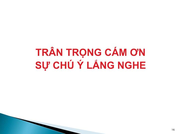 TRÂN TRỌNG CÁM ƠN
