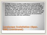 landscape installation spec 580 continued