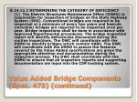value added bridge components spec 475 continued