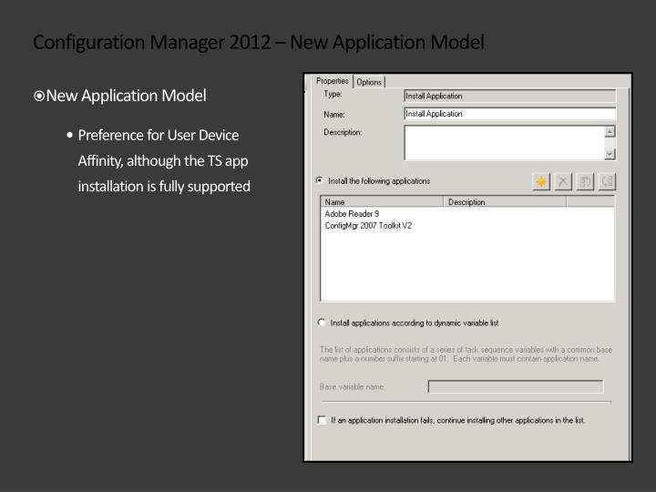 Configuration Manager 2012 – New Application Model