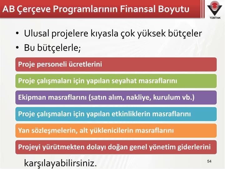 AB Çerçeve Programlarının Finansal Boyutu