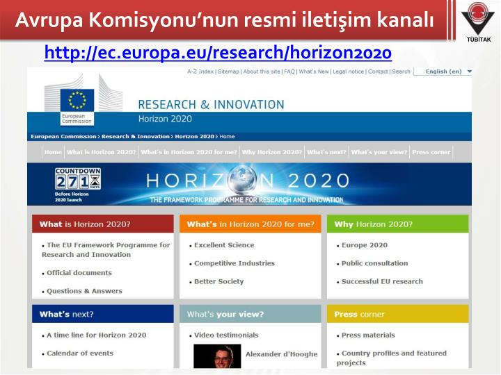 Avrupa Komisyonu'nun resmi iletişim kanalı