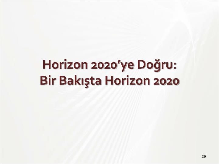 Horizon 2020'ye