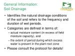 general information soil drainage