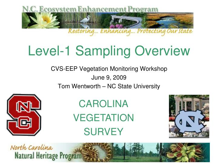 level 1 sampling overview n.