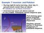 example t inversion and pollution