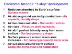 horizontal motions 7 step development