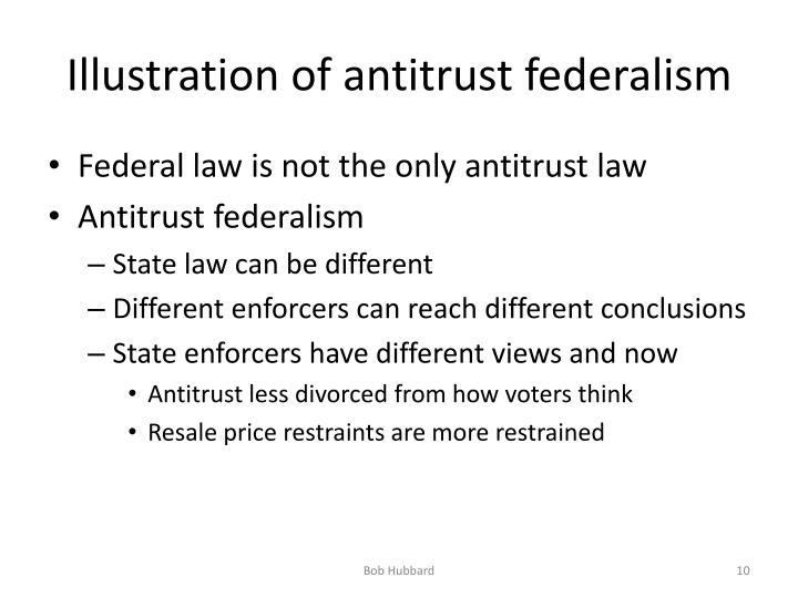 Illustration of antitrust federalism