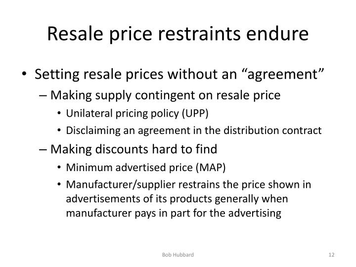 Resale price restraints endure
