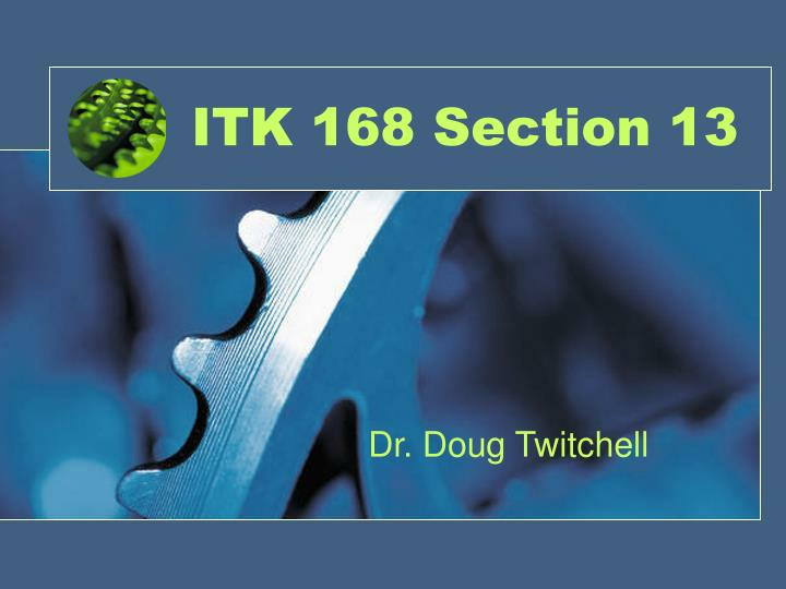 itk 168 section 13 n.